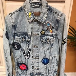 ASOS DENIM JACKET WITH PATCHES